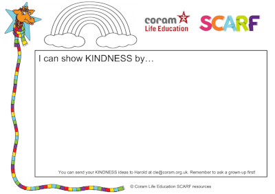 I can show kindness - activity sheet