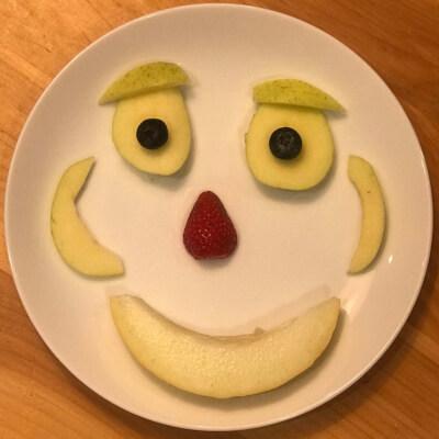 A fruit face