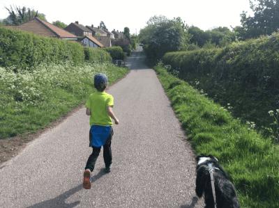 Finn and Milo running