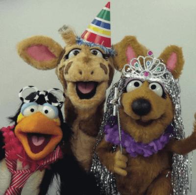 Harold, Kiki and Derek having fun before lockdown