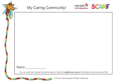 My caring community - activity sheet