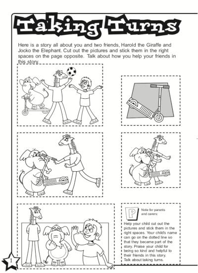 Taking turns - activity sheet