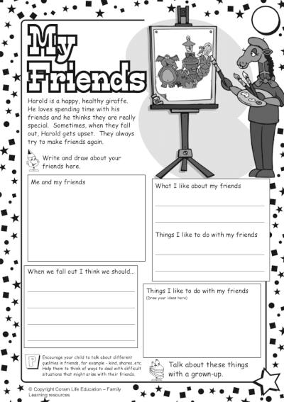 My friends - activity sheet