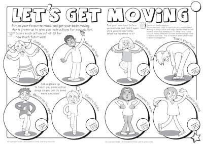 Let's Get Moving - activity sheet