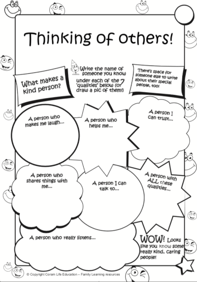 Thinking of Others - activity sheet