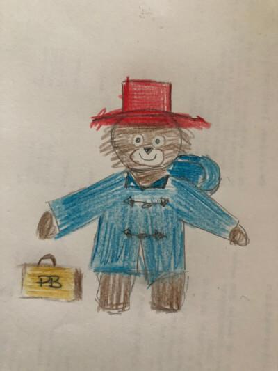 Drawing of Paddington bear