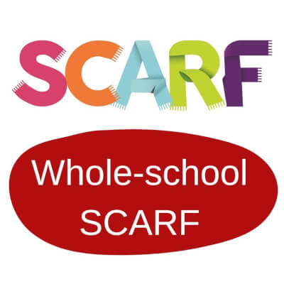 Logo of Whole School SCARF in RED