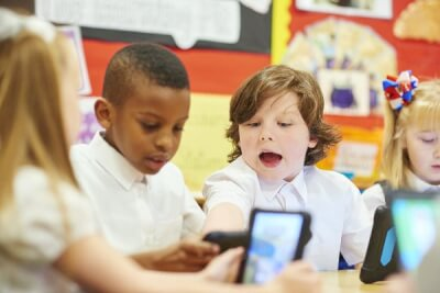 Children using devices