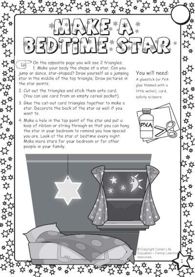 Make a bedtime star