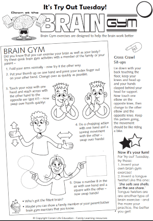 Brain Gym - print or read on screen